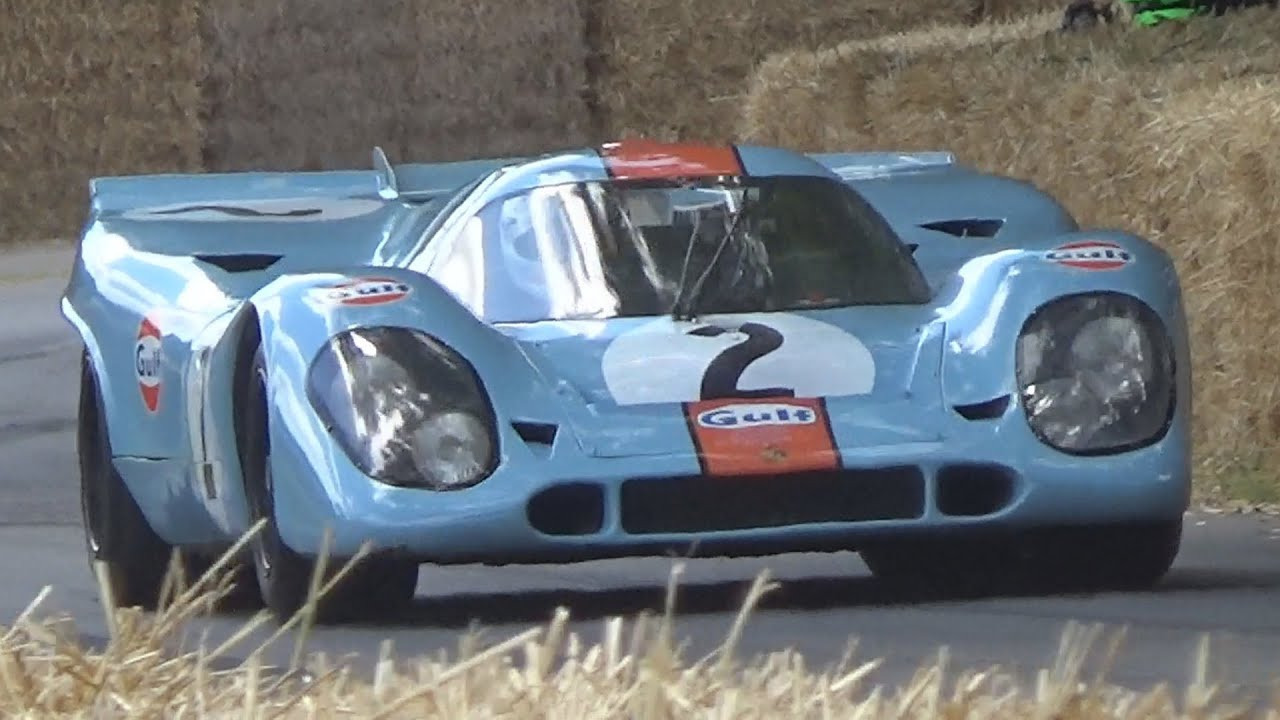 the beautiful gulf porsche 917k from the film 39 le mans. Black Bedroom Furniture Sets. Home Design Ideas