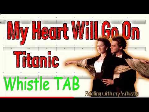 My Heart Will Go On - Titanic - Tin Whistle - Play Along Tab Tutorial thumbnail