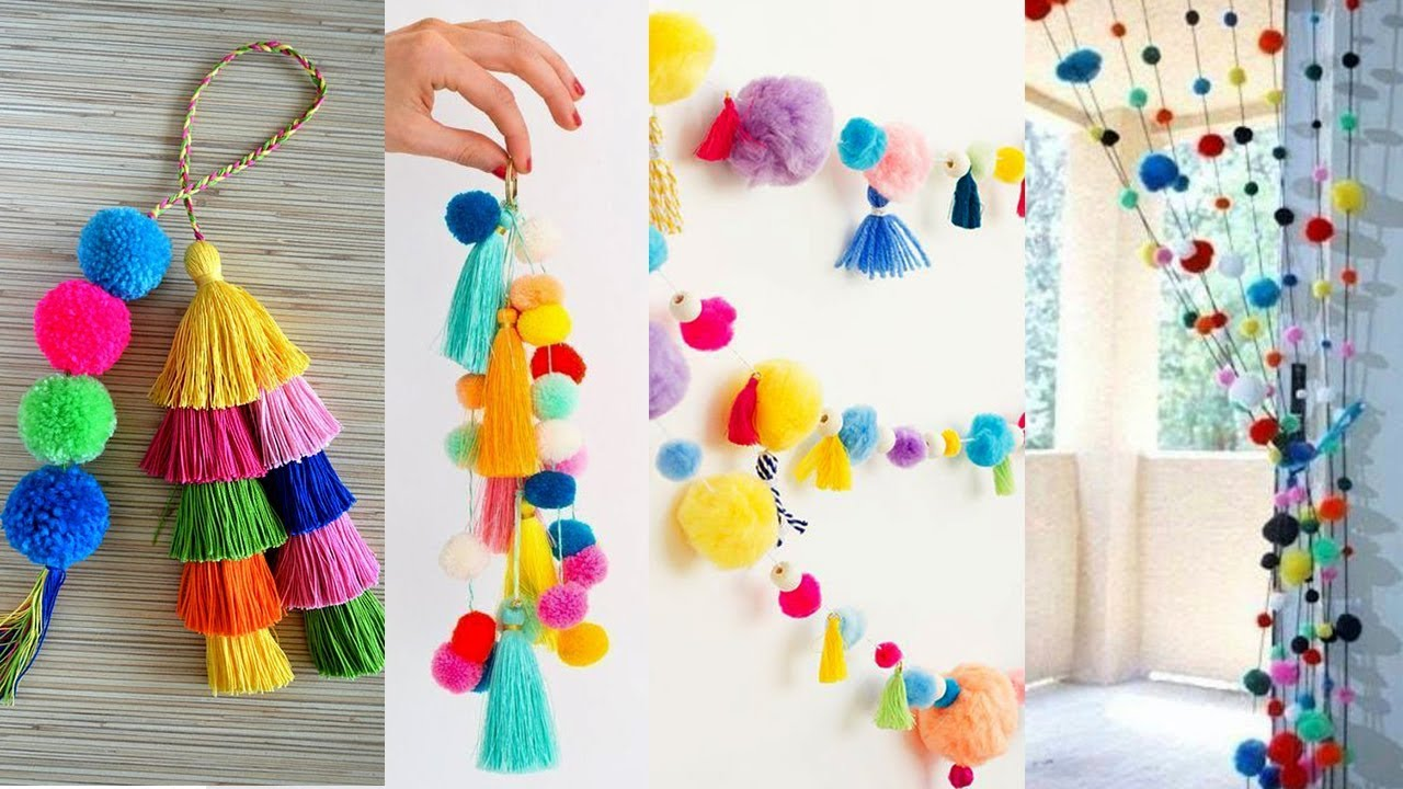 10 Awesome DIY ROOM DECOR!   HandmadeThings with Woolen ...