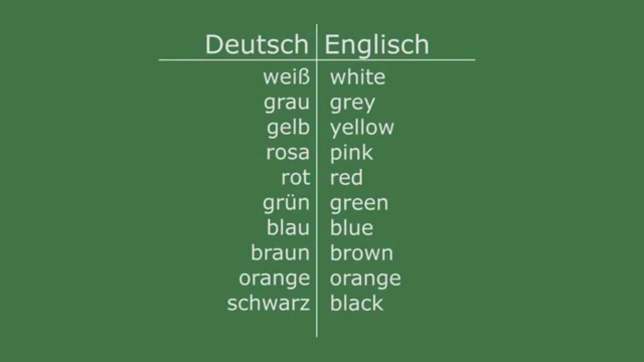 Englisch lernen - Die Farben - YouTube
