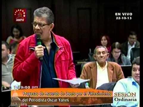 Intervención de Earle Herrera sobre Oscar Yanes