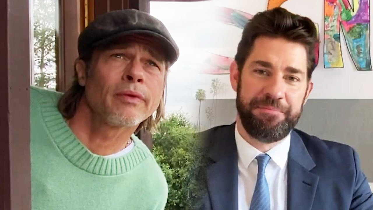 Watch Brad Pitt Play Weatherman on John Krasinski's Show!