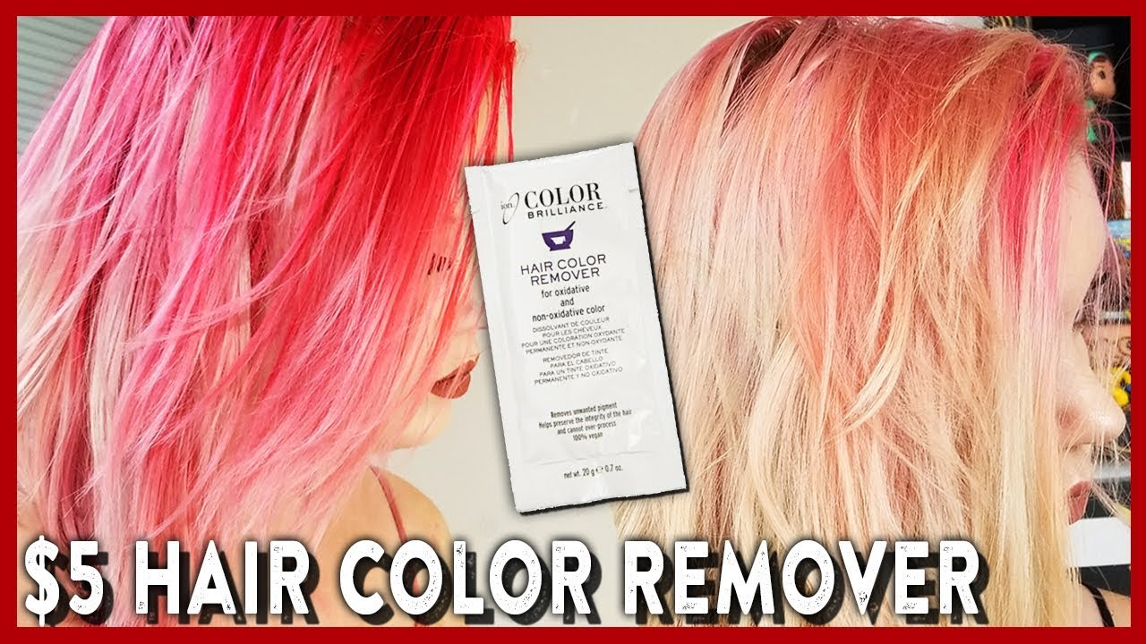 Removing Semi Permanent Hair Dye Ion Color Remover Youtube