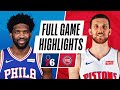 76ERS at PISTONS | FULL GAME HIGHLIGHTS | January 23, 2021