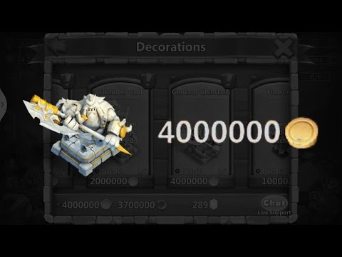 Castle Clash - Centaur Chieftain Statue!! 4,000,000 Gold!!