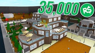 SPENDING 35,000 ROBUX on MY MILLION DOLLAR MANSION!! (Roblox Bloxburg Mansion #2)