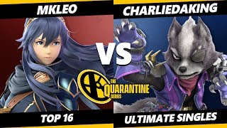 The Quarantine Series Top 16 - MKLeo (Lucina) Vs. Charliedaking (Wolf) Smash Ultimate - SSBU