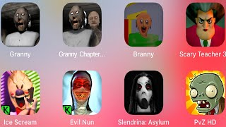 Granny,Granny 2,Branny Baldis Basic,Scary Teacher 3D,Ice Scream,Evil Nun,Slendrina,Plants vs Zombies