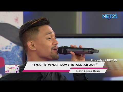LANCE BUSA - THAT'S WHAT LOVE IS ALL ABOUT (NET25 LETTERS AND MUSIC)
