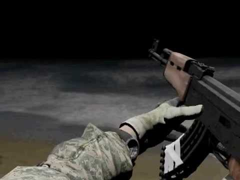 Fps Game Ak47 Reload , Shoot , Draw Animation WIP Test Maya 3d With Full  480 Quality