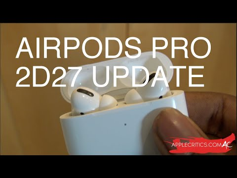 Airpods Pro New Update 2d27 What S New Youtube
