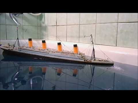RMS Titanic 1:400 sinking 4th time