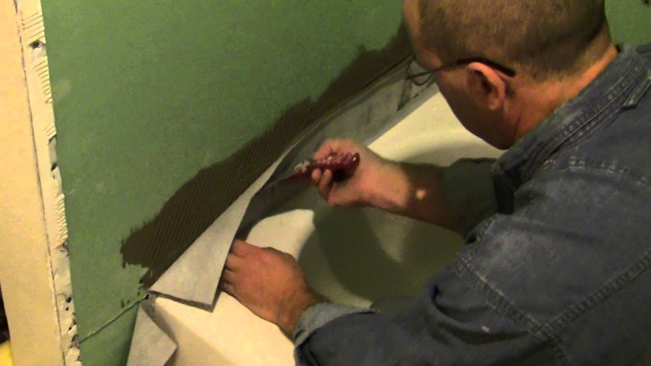 Psc Tub Shower Tile Surround Waterproofing Install Youtube