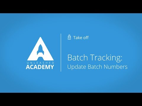Inventory Management - Batch Tracking: Update Batch Numbers