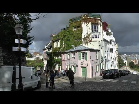 Walk around Montmartre Paris France