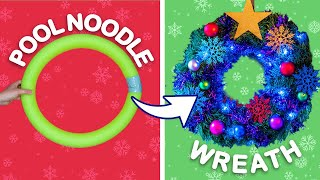 Turn a Pool Noodle Into a Holiday Wreath! & Other Holiday Decoration Hacks | Universal Kids