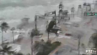 Hurricane Irma Storm Surge comes ashore along A1A on Ft Lauderdale Beach