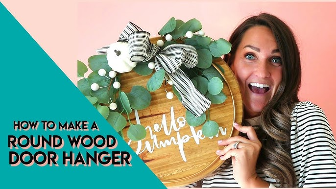 How To Make A Round Wood Door Hanger From Start To Finish Youtube
