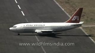 Top 10 Airlines - Indian Airlines Boeing 737 lands at Veer Savarkar International Airport, Port Blair, Andamans