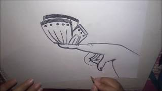 Dibujando Mano Con Mariposa | How To Draw