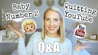 Q&A   BABY NUMBER 2 & QUITTING YOUTUBE!   Sarah-Jayne Fragola