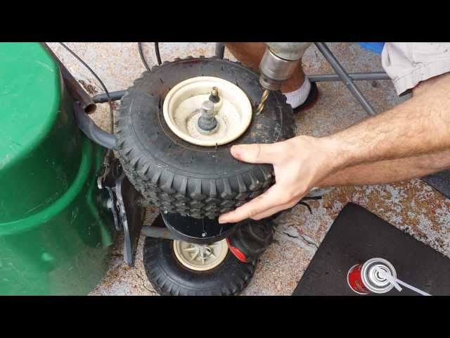how to foam fill tire, run flats