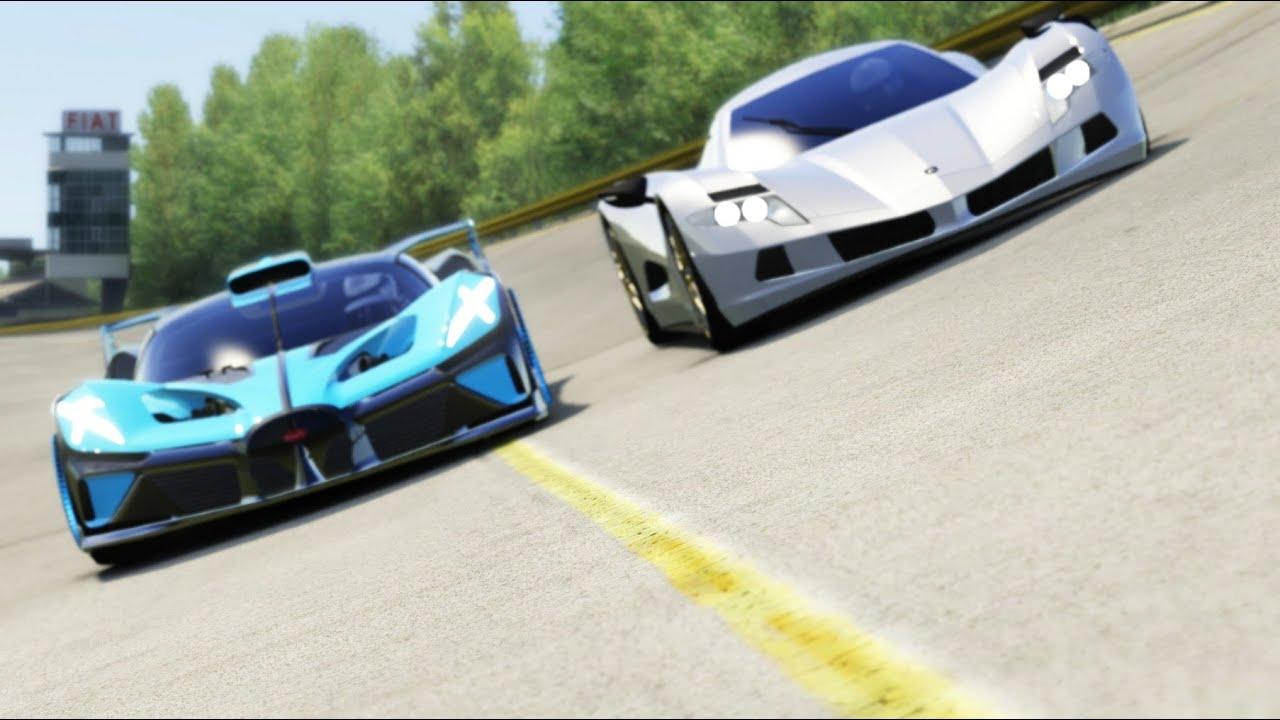Bugatti Bolide vs Lotus Evija at Monument Valley