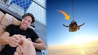 Paying random STRANGERS to come SKYDIVING (with Cameron Dallas)