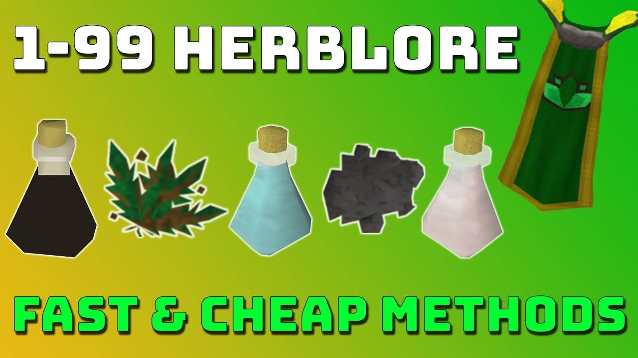 1 99 Herblore Guide Runescape 3 Fast Cheap Methods