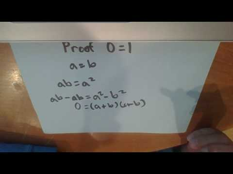 Proof that 0 = 1 (and 0 = 2)