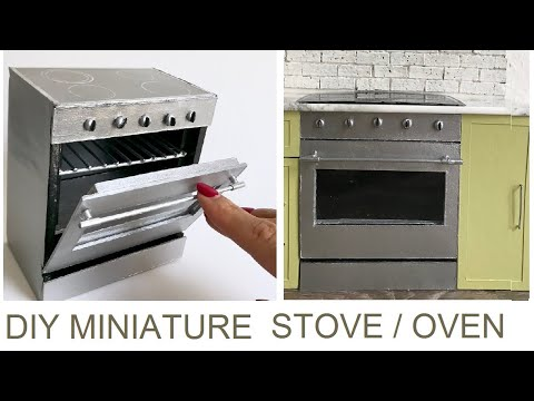 DIY: dollhouse oven /  miniature stove