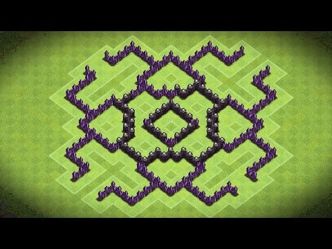 Clash Of Clans - Epic Town Hall 7 Dark Elixir Farming Base (Genesis) - Speed Build