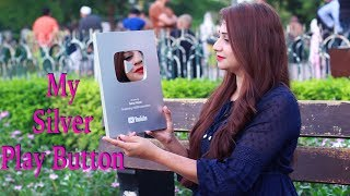 My Silver Play Button | Unboxing my Silver Play Button | How to claim your YouTube Award