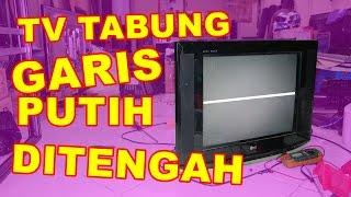 TV Tabung Garis Putih Di Tengah Layar VLOG41