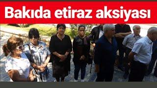 """26 ildir başımızın altına yasdıq qoyursuz - Bakıda etiraz aksiyası"""