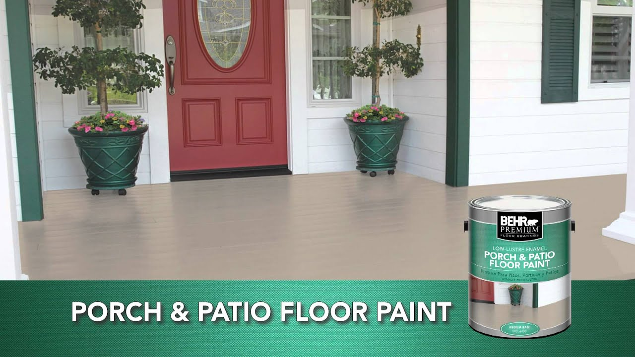 BEHR PREMIUM® Low   Lustre U0026 Gloss Enamel Porch U0026 Patio Floor Paint    YouTube