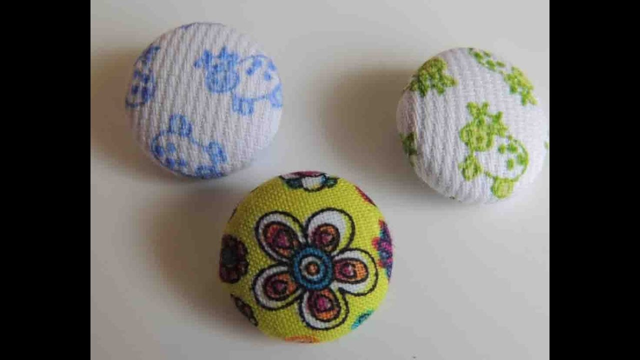 Tutorial como forrar botones de tela how to make fabric - Como forrar botones ...
