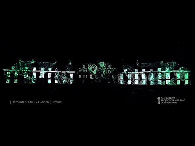 VJ Reinish (Ukraine) at 1minute projection mapping in Huis-Ten-Bosch