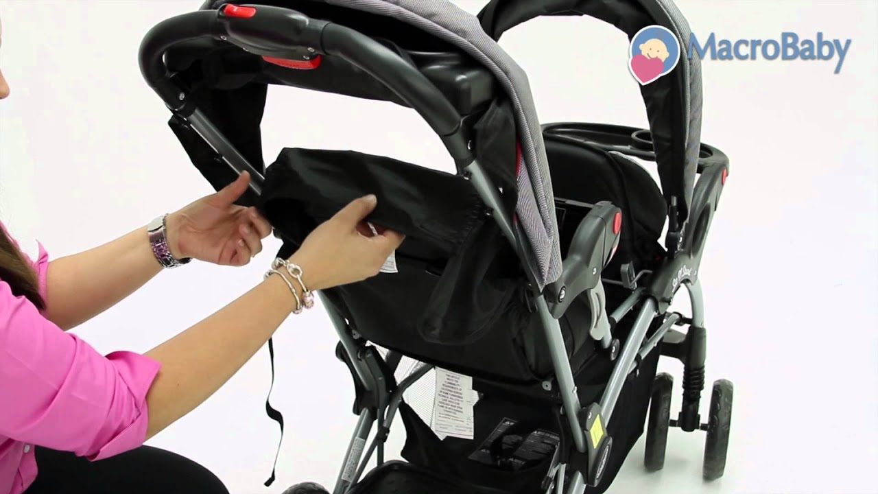 Macrobaby Store Baby Trend Sit N Stand Double Stroller Youtube