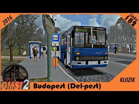 OMSI 2 - Budapešť (Del-pest) - Linka 182 - Kőbánya-Kispest M 18 X Alacskai úti ltp2.)