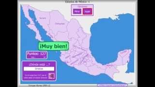 Mapa interactivo de los estados mexicanos.