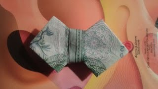 HOW TO MAKE A BOW TIE WITH MONEY