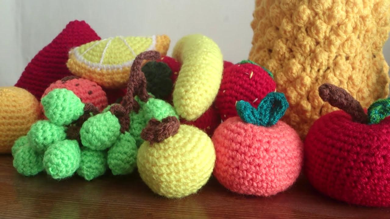 Frutas a crochet - YouTube