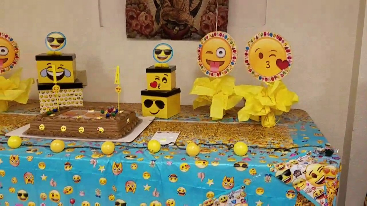 Emoji Birthday Party Day