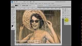Видеоурок Photoshop Состаривание фотографии