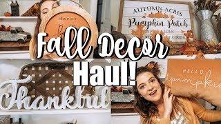 FALL DECOR HAUL 2019 // HOBBY LOBBY AND JOANN'S FALL HAUL!