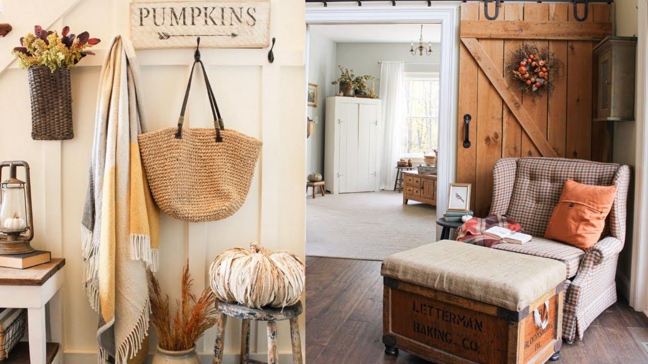 Fall Farmhouse Home Tour | Fall Decorating Ideas on a budget | Fall Home Inspiration 2021