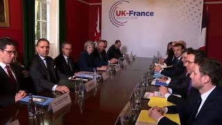UK-France summit with May and Macron starts (2)