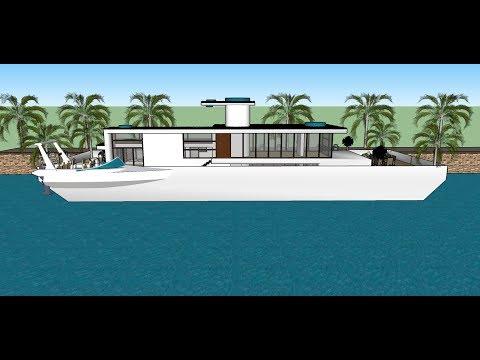 Houseboat in Hamburg in Germany floating luxury Rental Sleep Aboard houseboats home hausboot kaufen