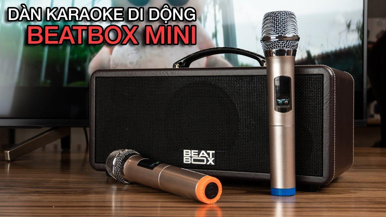 Trên tay dàn karaoke di động ACNOS Beatbox Mini KS360/KS361